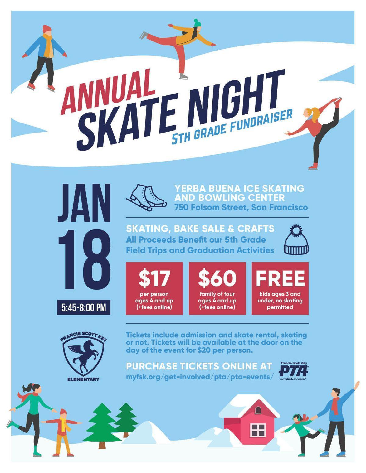 Annual Skate Night 5th Grade Fundraiser 2020